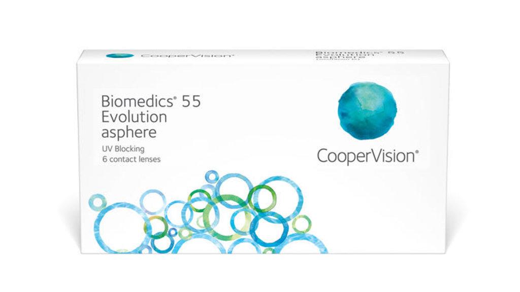 Контактные линзы: Контактные линзы Biomedics 55 Evolution (6шт / 8.8) CooperVision в Лорнет