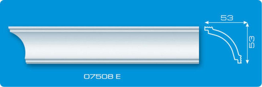 Плинтуса потолочные: Плинтус потолочный ФОРМАТ 07508 Е экструзионный длина 2м в Мир Потолков