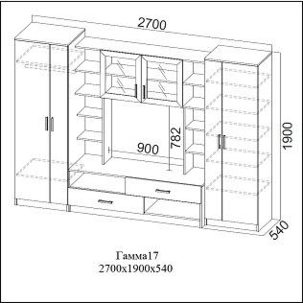 Гостиные: Мебель для гостиной Гамма-17 в Диван Плюс