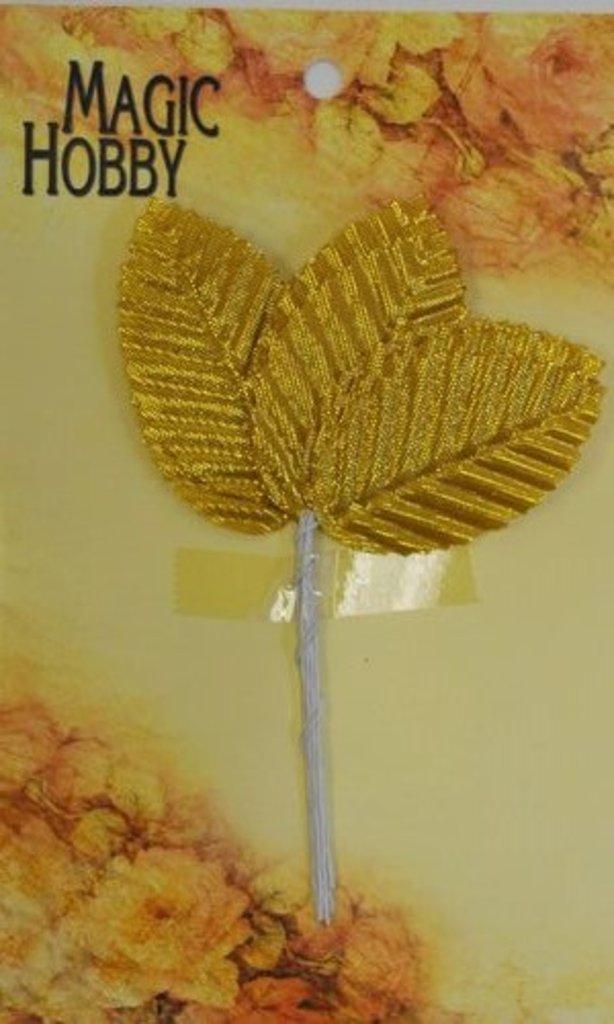 Скрапбукинг: Листочки декоративные Magic Hobby TBY-L2 уп/10шт золото в Шедевр, художественный салон