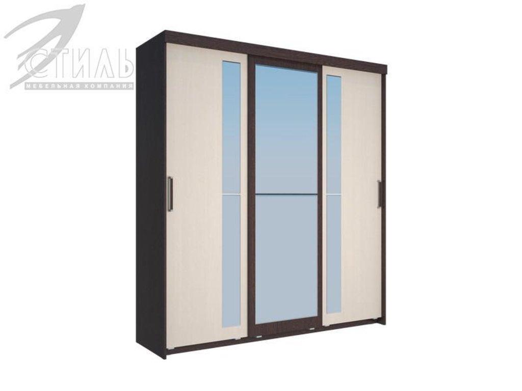 Шкафы: Шкаф-купе Комфорт-5А (Венге / Дуб молочный) в Диван Плюс