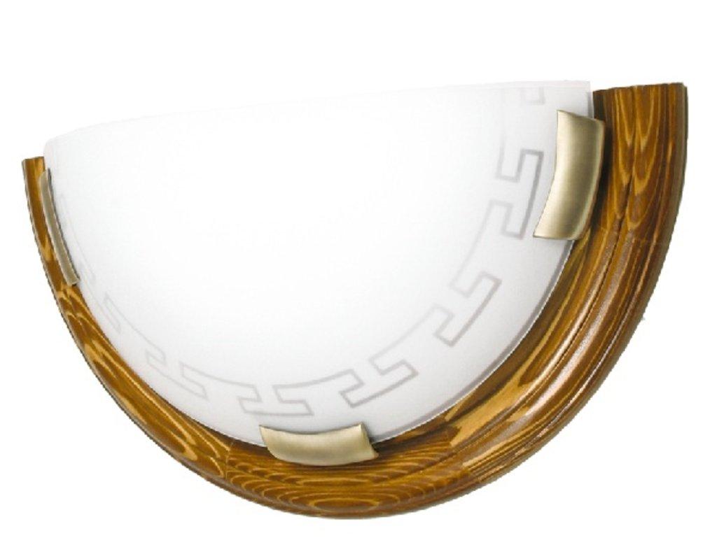 Светильники настенно-потолочные, бра: 060 FB06 27 т.орех/бронза Бра 100 Вт Е27 Greca в Электрика