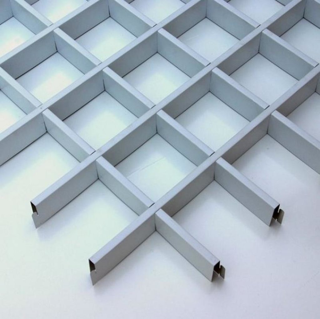Потолки грильято: Потолок Грильято 150x150 h=40 белый (Cesal) в Мир Потолков
