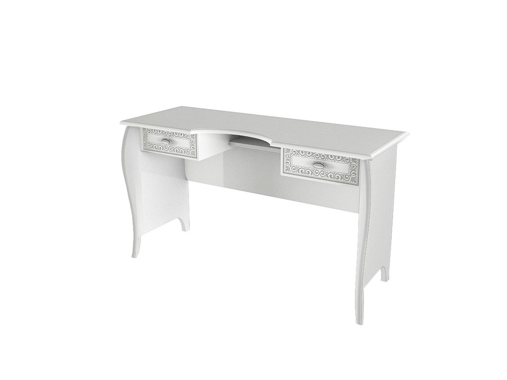 Туалетные столики и консоли: Стол туалетный Винтаж белый в Стильная мебель