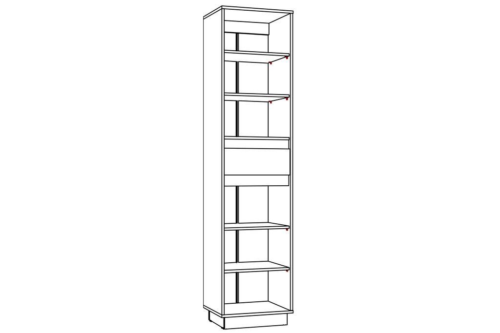 Шкафы, общие: Шкаф для одежды VIRGINIA НМ 011.81 в Стильная мебель