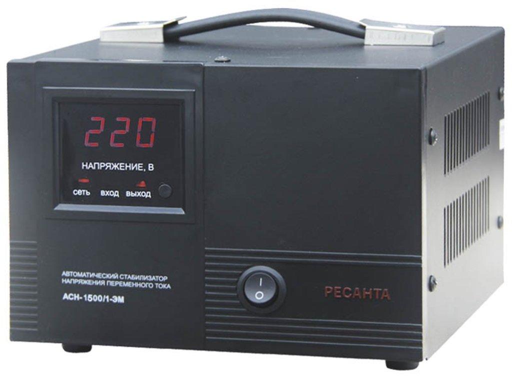 Электромеханического типа: Однофазный стабилизатор электромеханического типа РЕСАНТА АСН-1500/1-ЭМ в РоторСервис, сервисный центр, ИП Ермолаев Д. И.