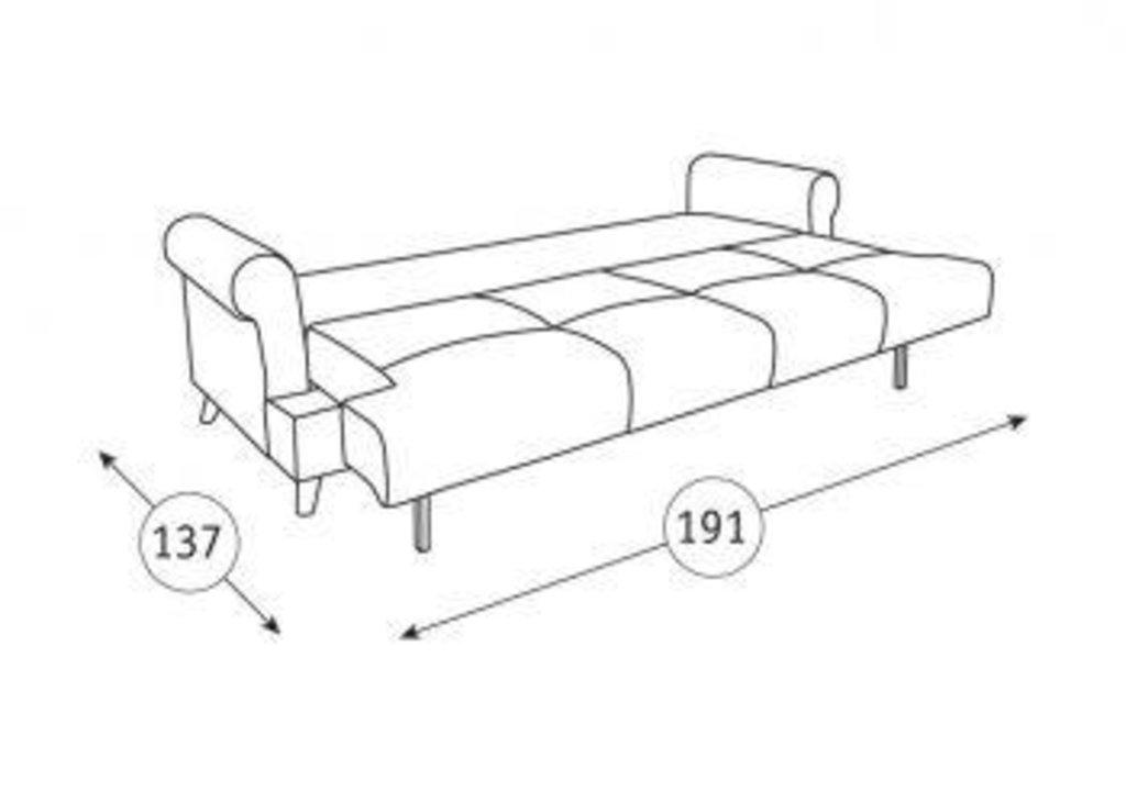 Диваны Мирта: Диван-кровать Мирта ТД 315/1 в Диван Плюс