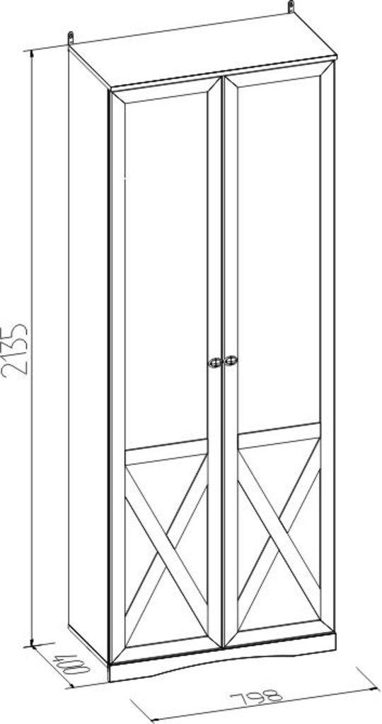 Детские шкафы и стеллажи: Шкаф для одежды ADELE 92 в Стильная мебель