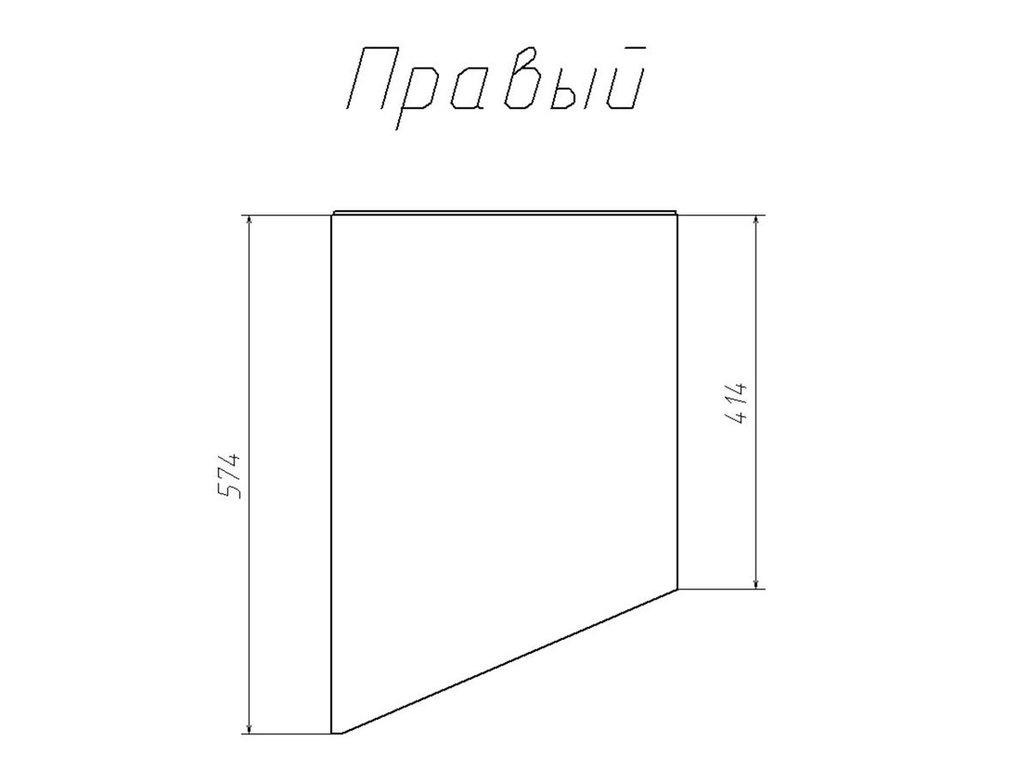 Детские шкафы и стеллажи: Шкаф-пенал скос НМ 013.05-01 ПР Фанк в Стильная мебель