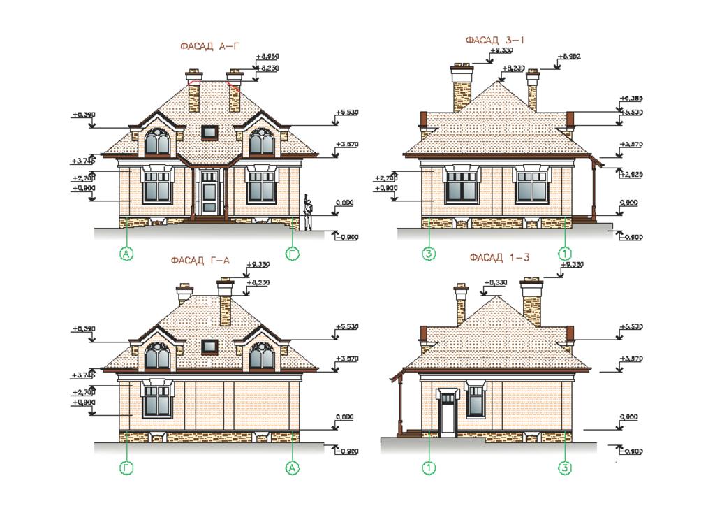 Разработка проекта: Эскизный проект дома. в А-Строй