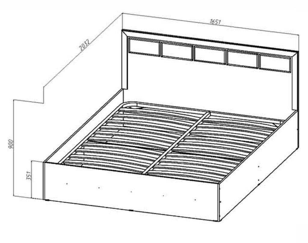 Кровати: Кровать Венеция (1600, мех. подъема) в Стильная мебель
