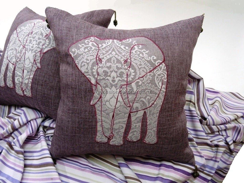 Вышивка: Вышивка на подушках в Декор окна, салон