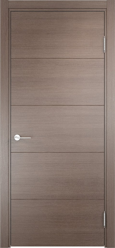 Двери Верда: Дверь межкомнатная Турин 01 Эко шпон с Алюминиевой кромкой в Салон дверей Доминго Ноябрьск