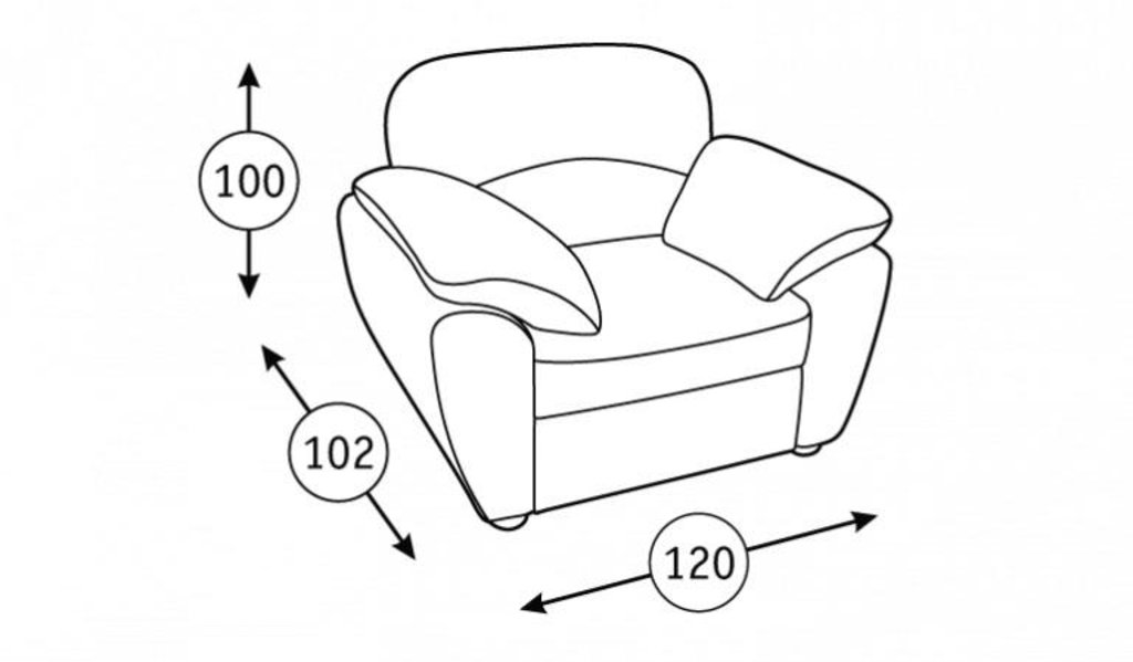 Кресла Фламенко: Кресло для отдыха Фламенко Арт. 40435 в Диван Плюс