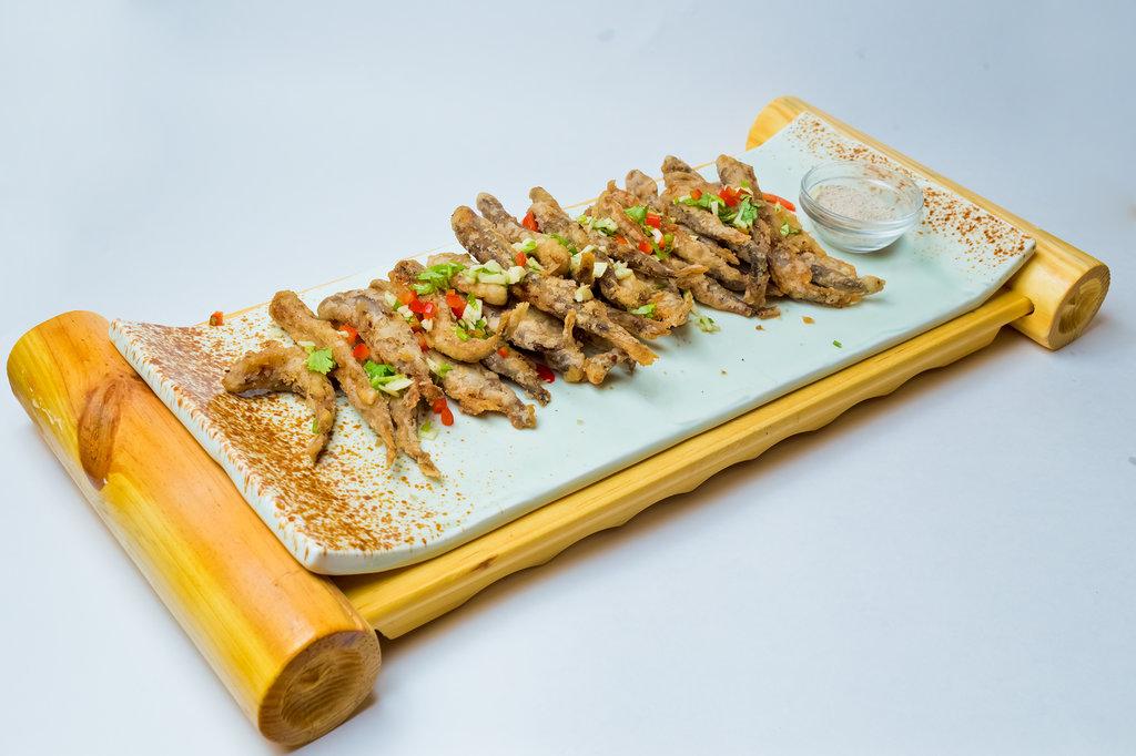 Горячие закуски: Золотистые рыбки в Шанхай