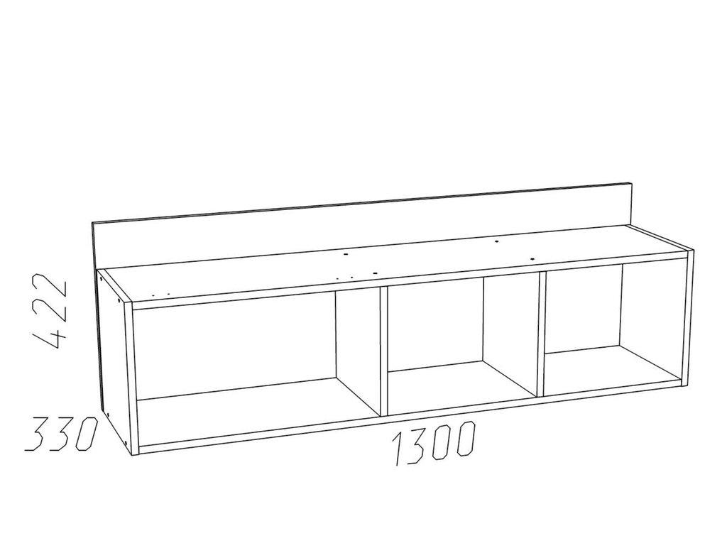Полки детские: Полка с дверкой НМ 011.38-01 Фанк в Стильная мебель