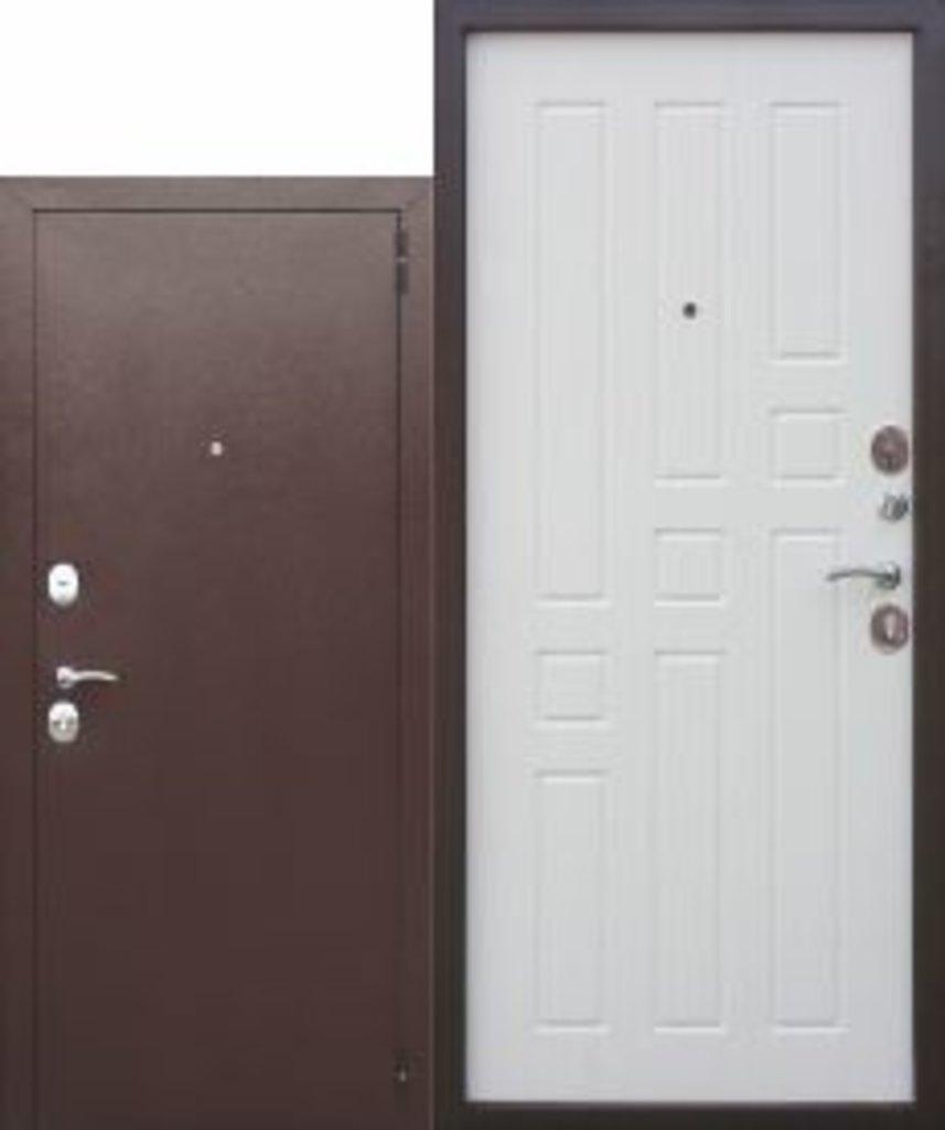 Двери завода Феррони: Входная дверь Garda 8 мм Белый Ясень в Модуль Плюс