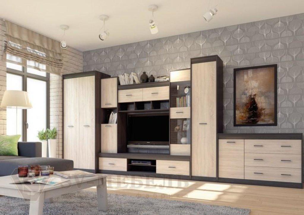 Мебель для гостиной Гамма-19: Комод со створкой Гамма-19 в Диван Плюс