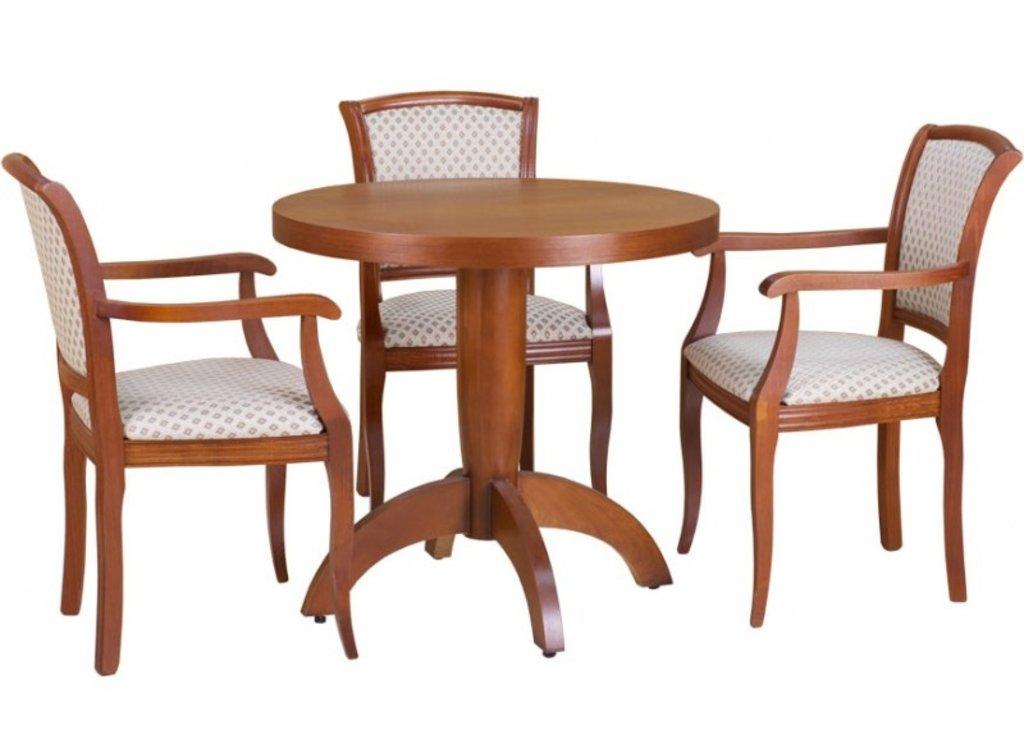 Столы для ресторана, бара, кафе, столовых.: Стол Viks-3 круглый 850 (шпон) в АРТ-МЕБЕЛЬ НН