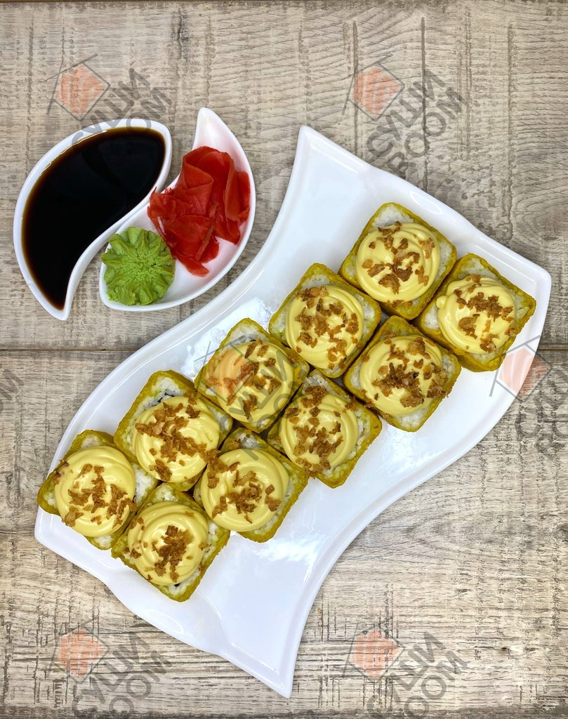 Тёплые роллы: Чикен-темпура в Суши Room