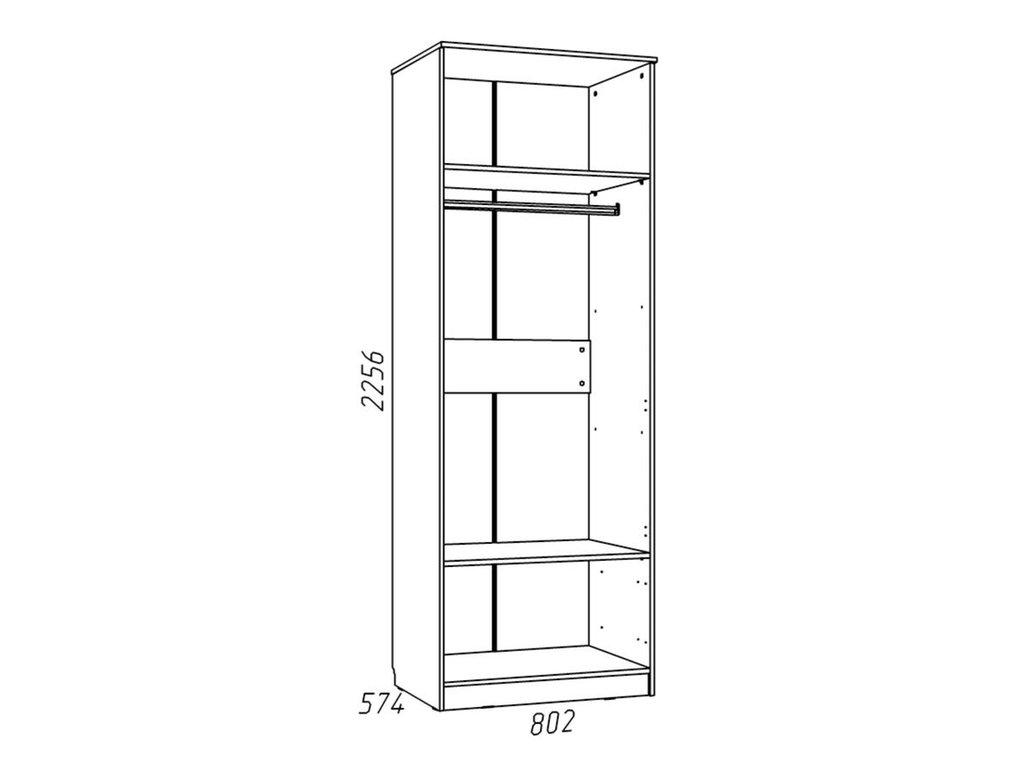 Детские шкафы и стеллажи: Шкаф для одежды НМ 013.02-03 Фанк в Стильная мебель
