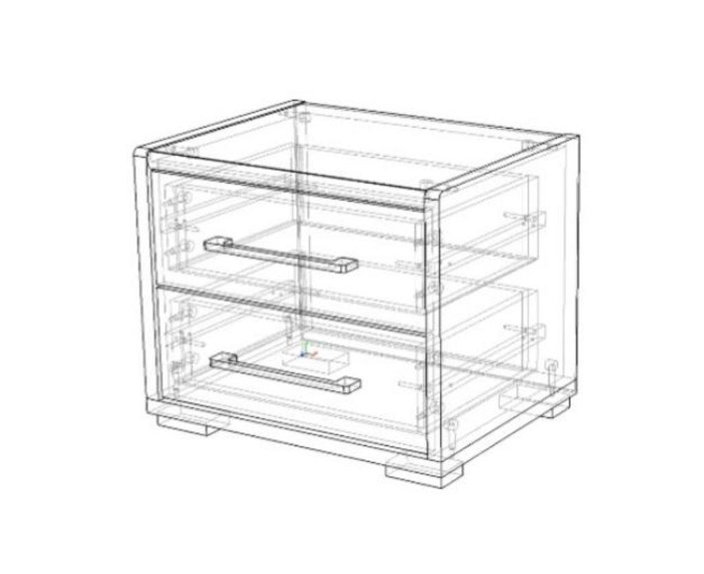 Мебель для спальни Луиза (венге / белый глянец): Тумба прикроватная Луиза (венге / белый глянец) в Диван Плюс