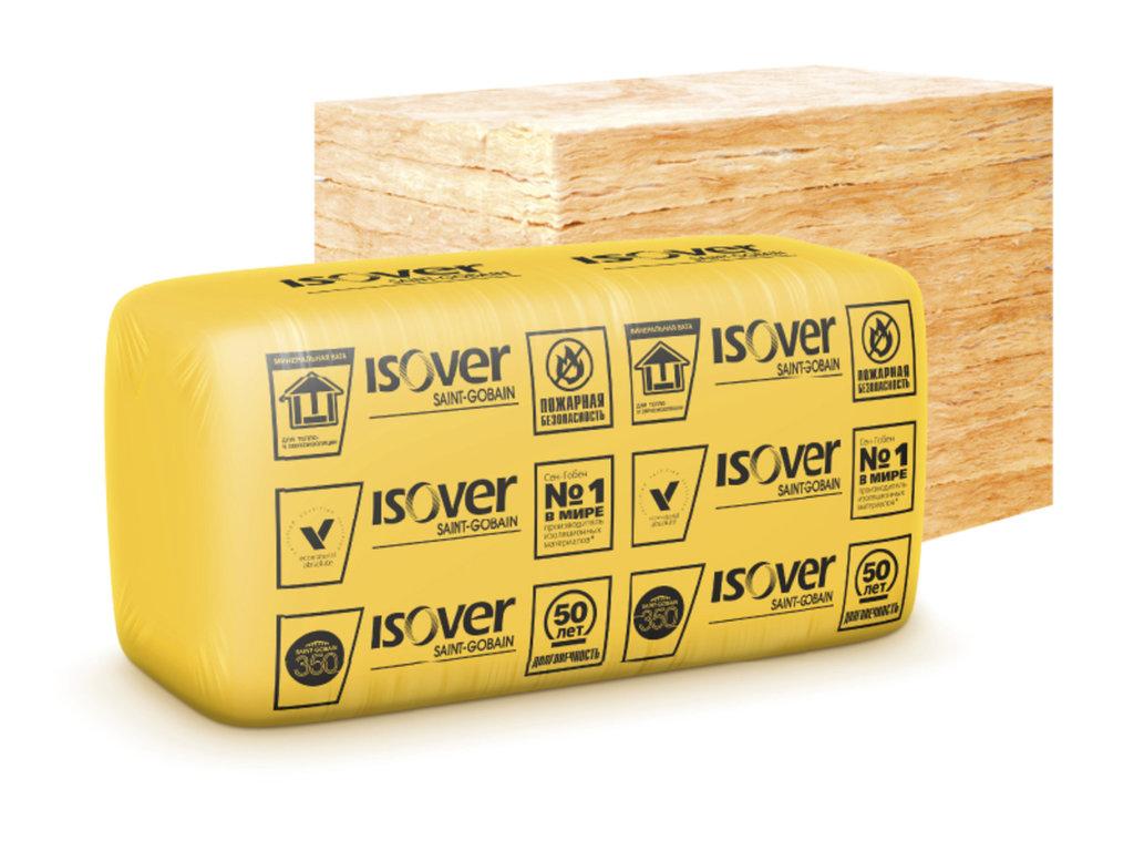 На основе кварца: Плиты Изовер Вент Фасад Низ 1170*610/100 мм (7,14м2, 0,714м3 10 шт) в АНЧАР,  строительные материалы