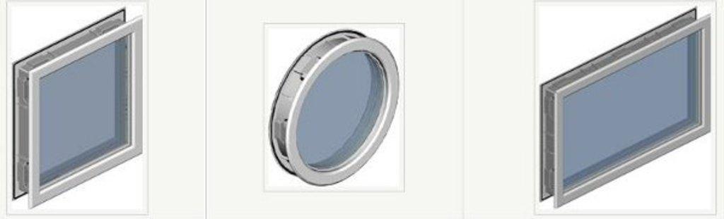 Окна для секционных ворот: Окно акриловое диаметр=322 Alutech круглое в АБ ГРУПП