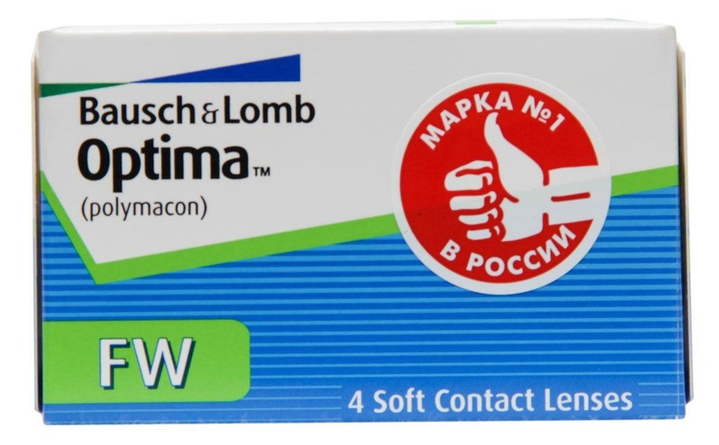 Контактные линзы: Контактные линзы Optima FW (4шт / 9.0) Bausch & Lomb в Лорнет