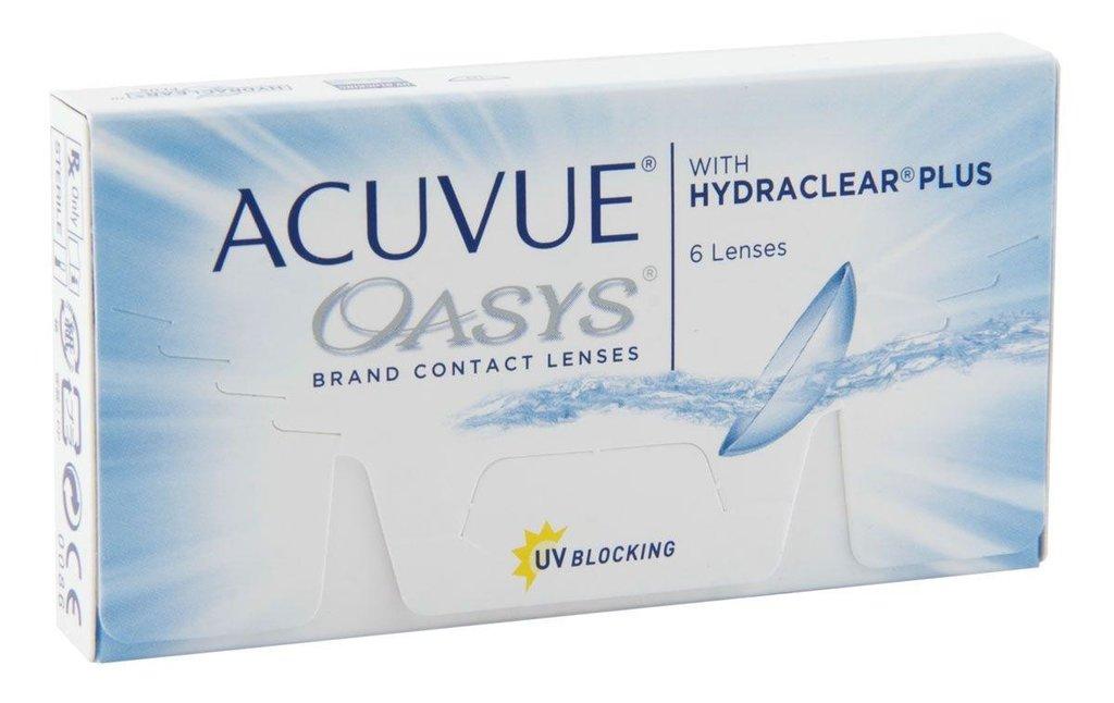 Контактные линзы: Контактные линзы Acuvue Oasys With Hydraclear Plus (6шт / 8.8) Johnson & Johnson в Лорнет