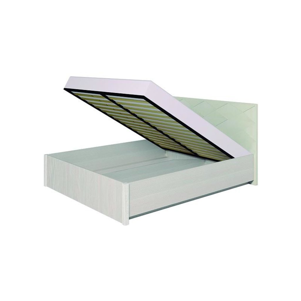 Кровати: Кровать Люкс Марсель 37.2 (1600, мех. подъема) в Стильная мебель