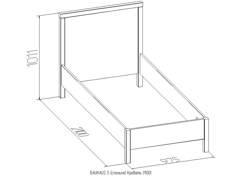 Кровати: Кровать BAUHAUS 5 (900, орт. осн. металл) в Стильная мебель