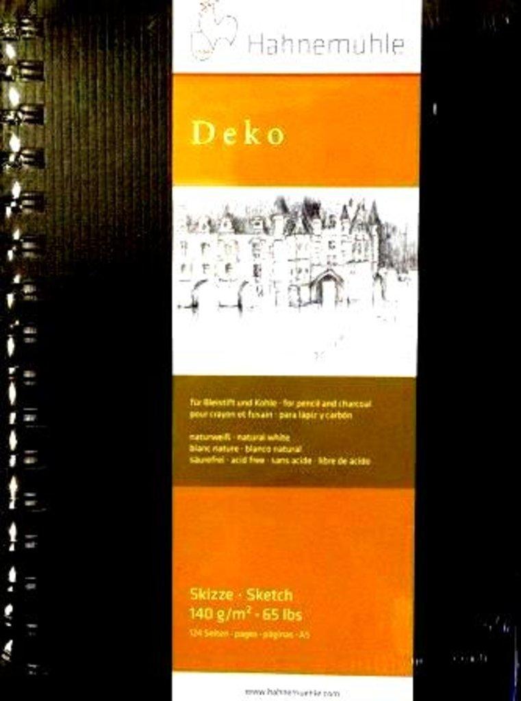 """Бумага для эскизов и набросков: Альбом для эскизов на спирали """"Deko"""" на жесткой основе А5, 62 листа в Шедевр, художественный салон"""