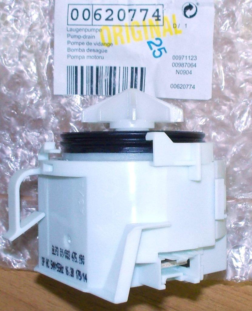 Насосы сливные для стиральных и посудомоечных машин: Сливной насос для посудомоечных машин (ПММ) Бош (Bosch), Сименс (Siemens), Неф (Neff), Гагенау (Gagenau), 620774, 00620774 в АНС ПРОЕКТ, ООО, Сервисный центр