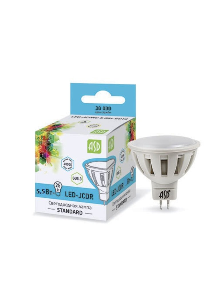 Светодиодные лампы: LED- JCDR светодиодная лампа ASD в Электрика