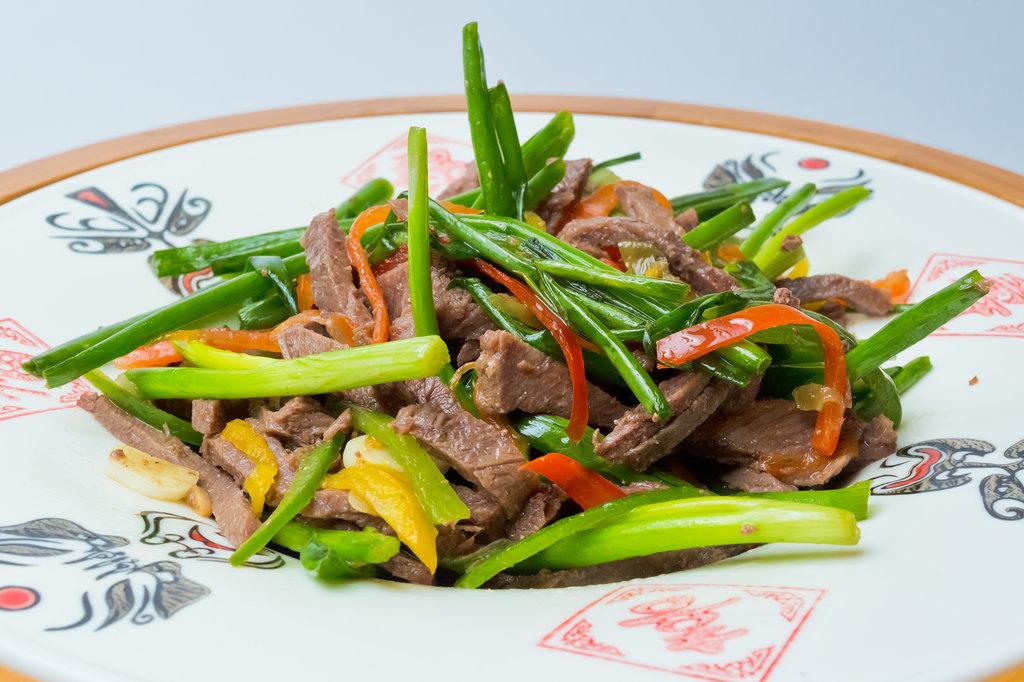 Закуски: Салат из говядины в Шанхай