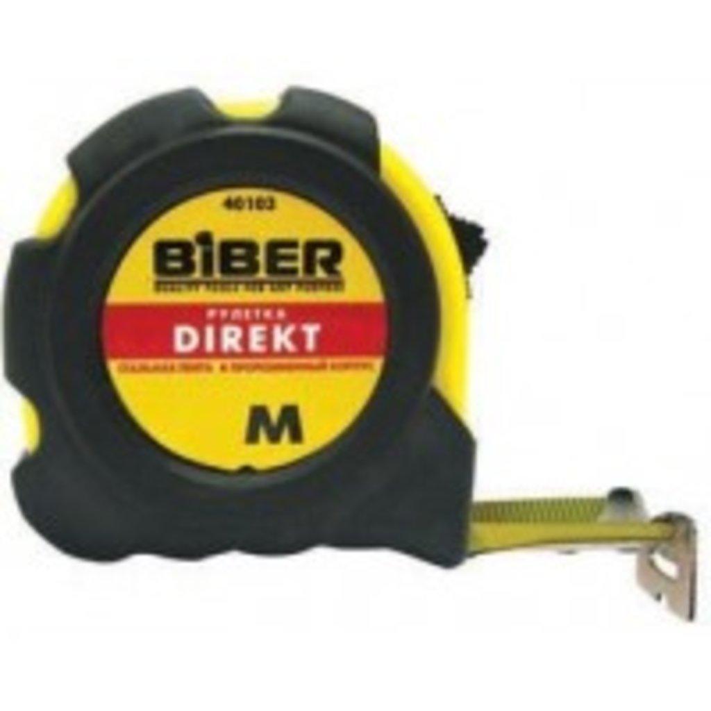 Инструмент ручной: Рулетка 3м*16 мм БИБЕР (резиновый корпус) в АНЧАР,  строительные материалы