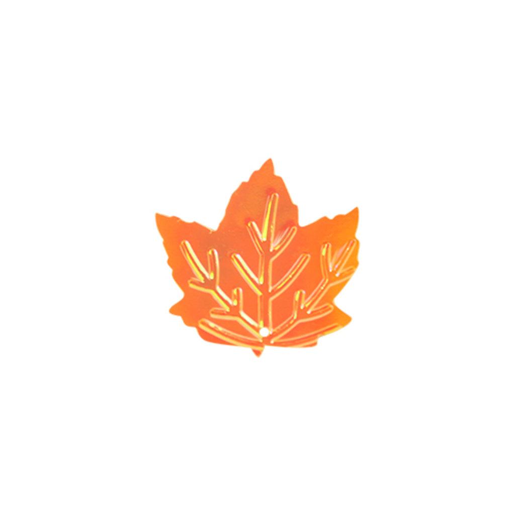 """Кленовый лист: Пайетки""""кленовый лист""""22*22мм.,упак/10гр.Астра(цвет:88 оранжево-желто-кремовый) в Редиант-НК"""
