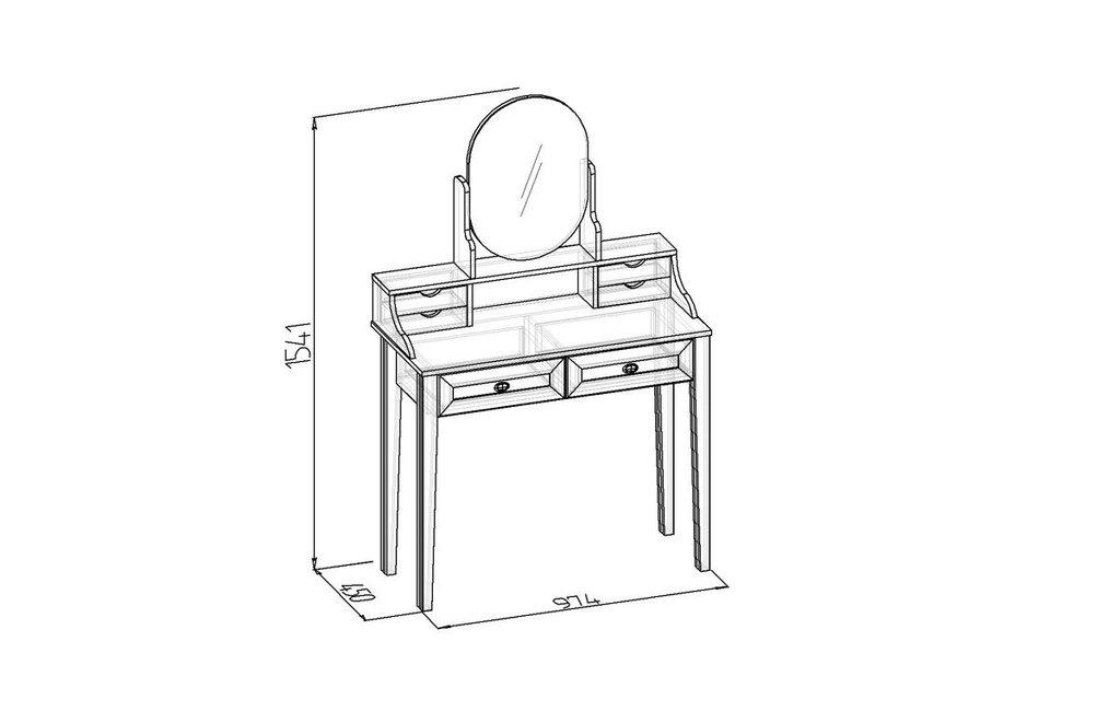 Туалетные столики и консоли: Стол туалетный Бриз 43 в Стильная мебель