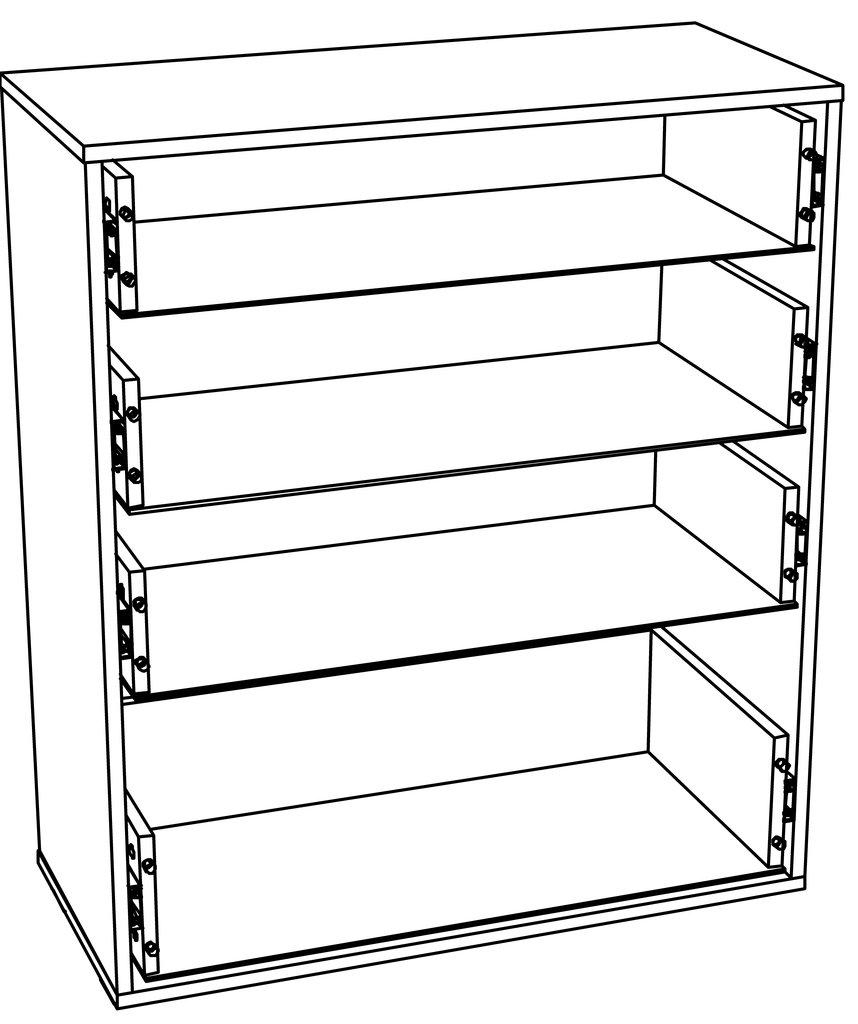 Комоды для дома: Комод LIVORNO НМ 040.46 в Стильная мебель