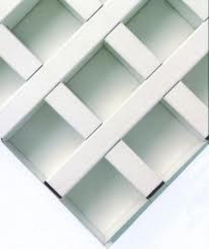 Потолки Армстронг (минеральное волокно): Потолочная плита Cellio C64  75x75x37 White (assembled) в Мир Потолков