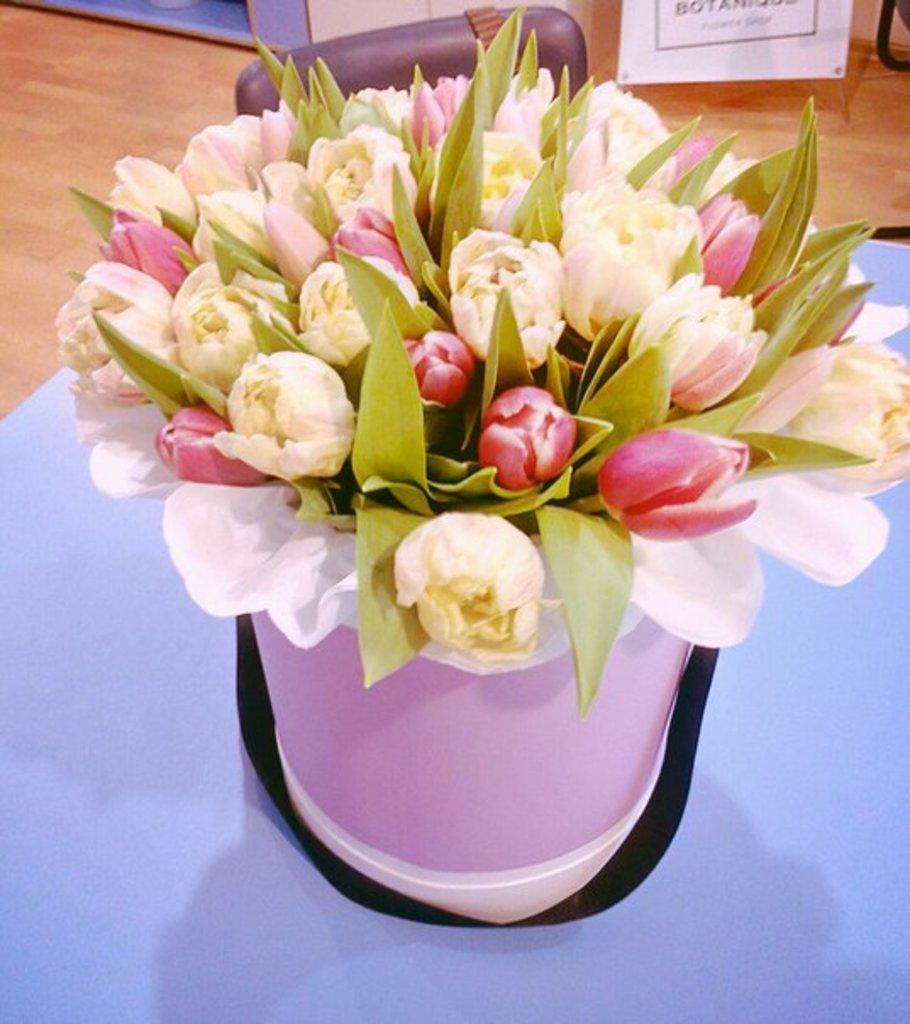 """Premier: """"Premier"""" микс пионовидные тюльпаны в Botanique №1,ЭКСКЛЮЗИВНЫЕ БУКЕТЫ"""