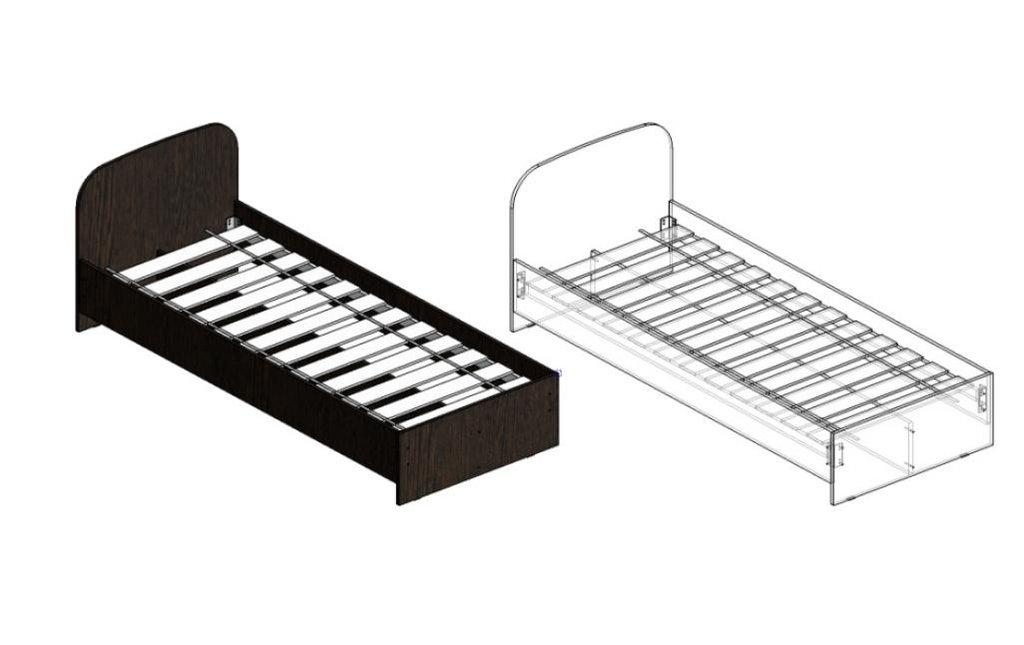 Спальни: Кровати ЛДСП 840 (А), 940 (А) в Диван Плюс