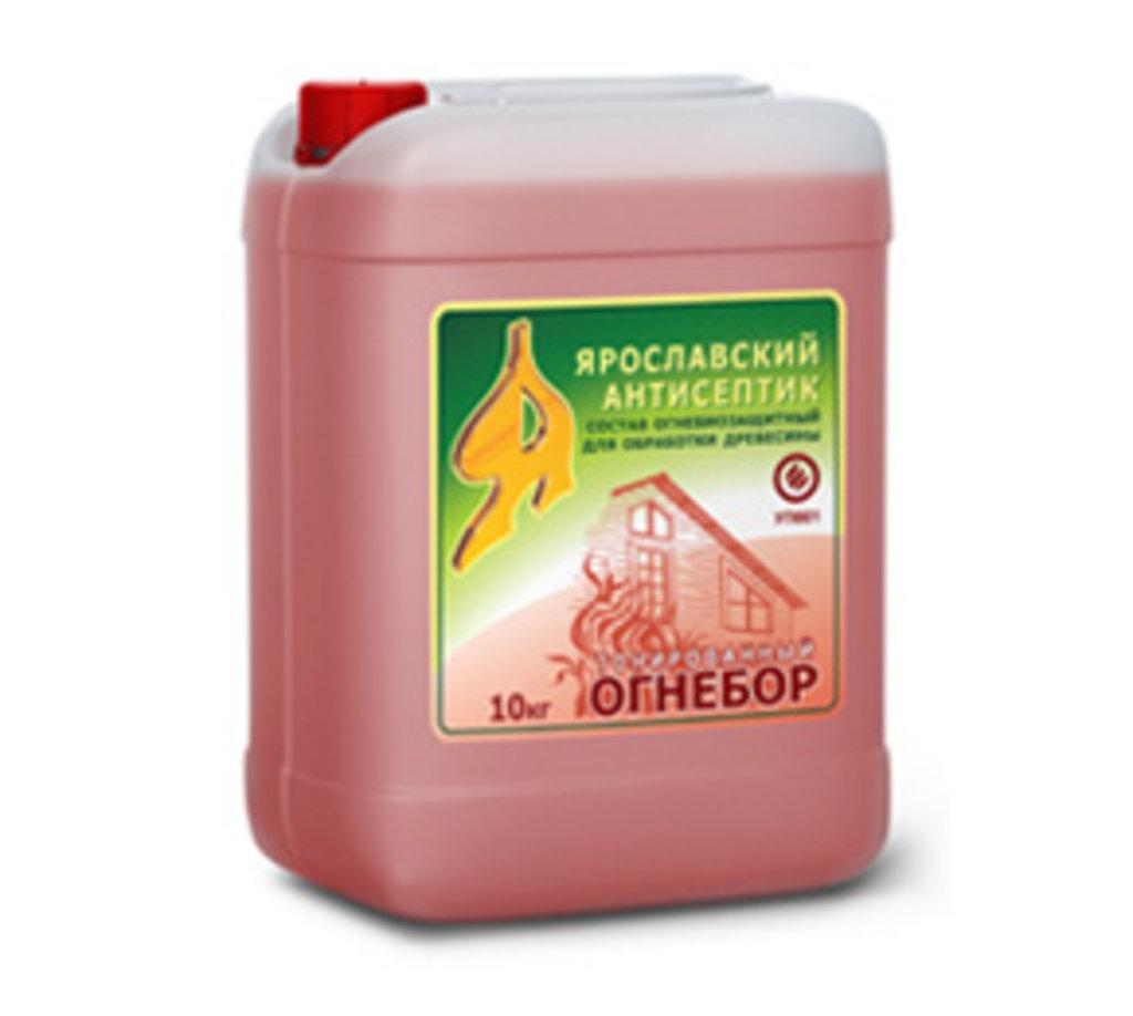 Грунтовки: Огнебиозащитный состав для древесины ОГНЕБОР тонированный в АНЧАР,  строительные материалы