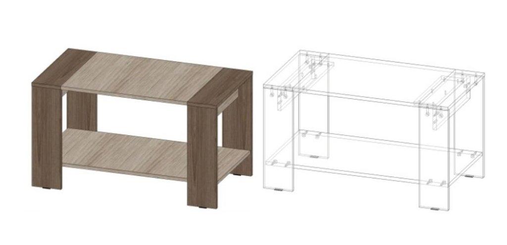 Столы журнальные: Журнальный стол №11 в Диван Плюс