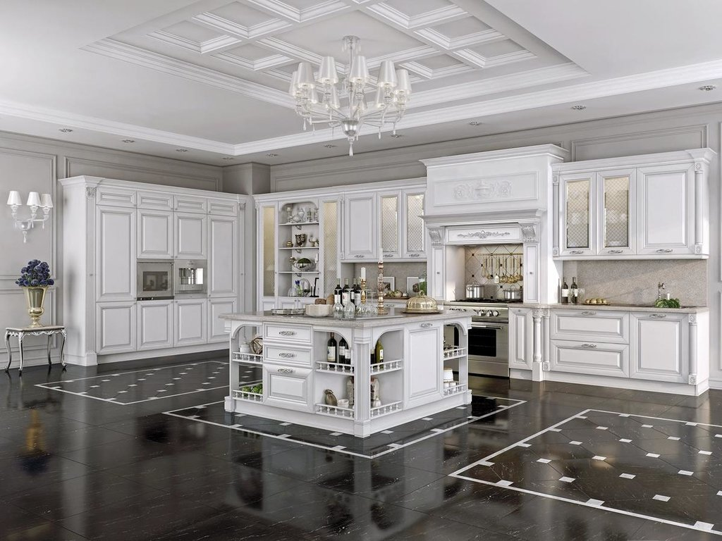 Кухни: Кухня Бьянка Argento в Модный интерьер