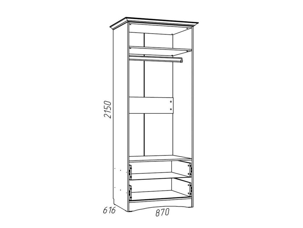 Детские шкафы и стеллажи: Шкаф для одежды НМ 009.16 Z Прованс в Стильная мебель