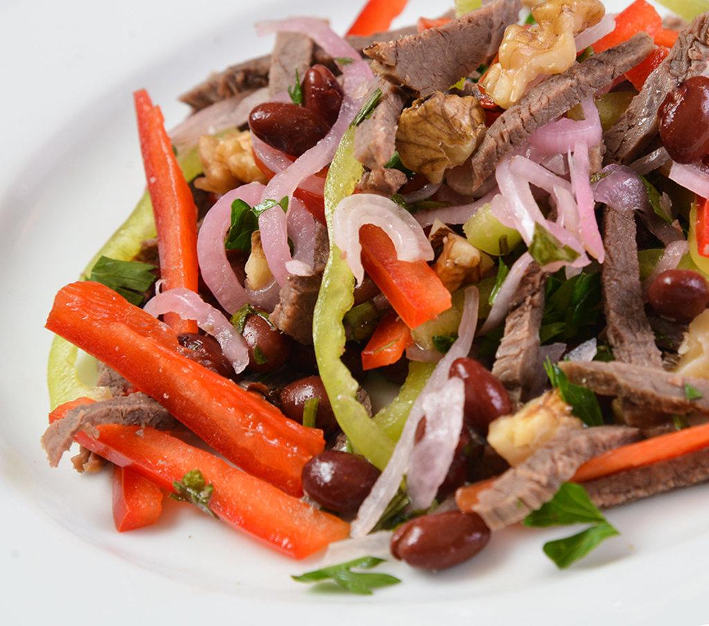 Салаты: Салат с фасолью и говядиной в Провиант
