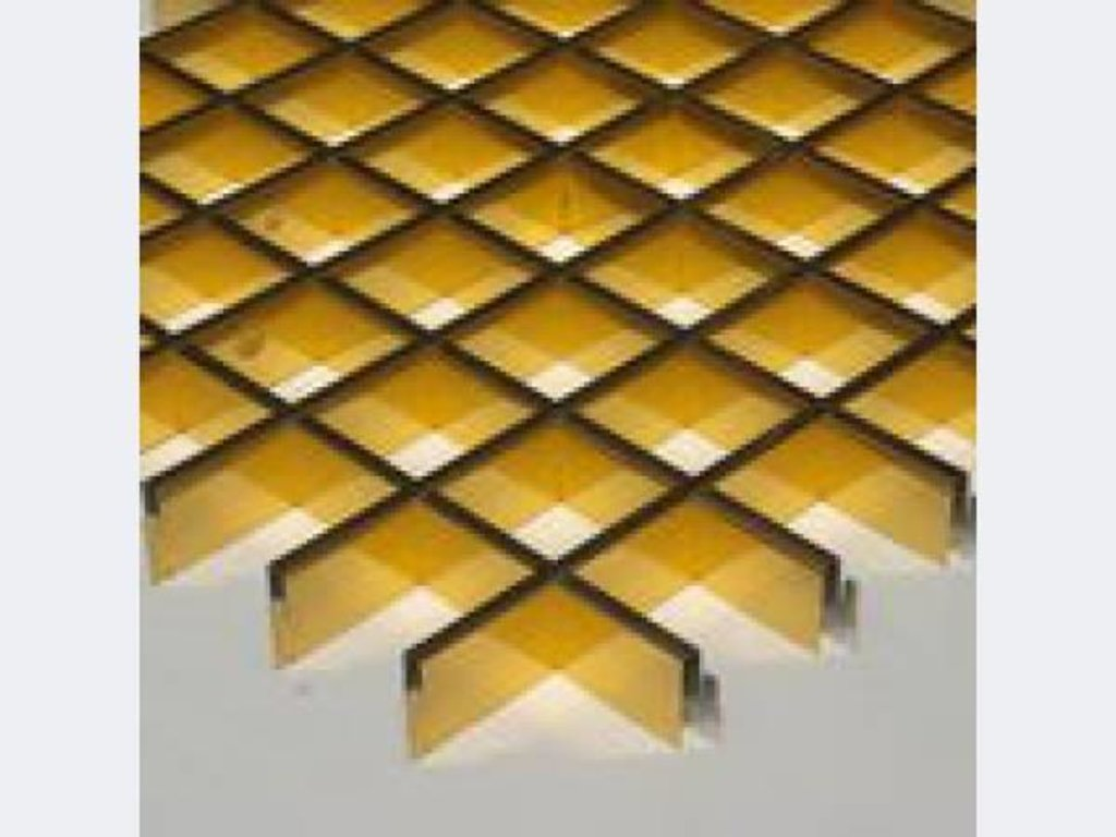 Потолки грильято: Потолок грильято 200х200 ( выс.30/шир.5) Эконом золото А111 в Мир Потолков