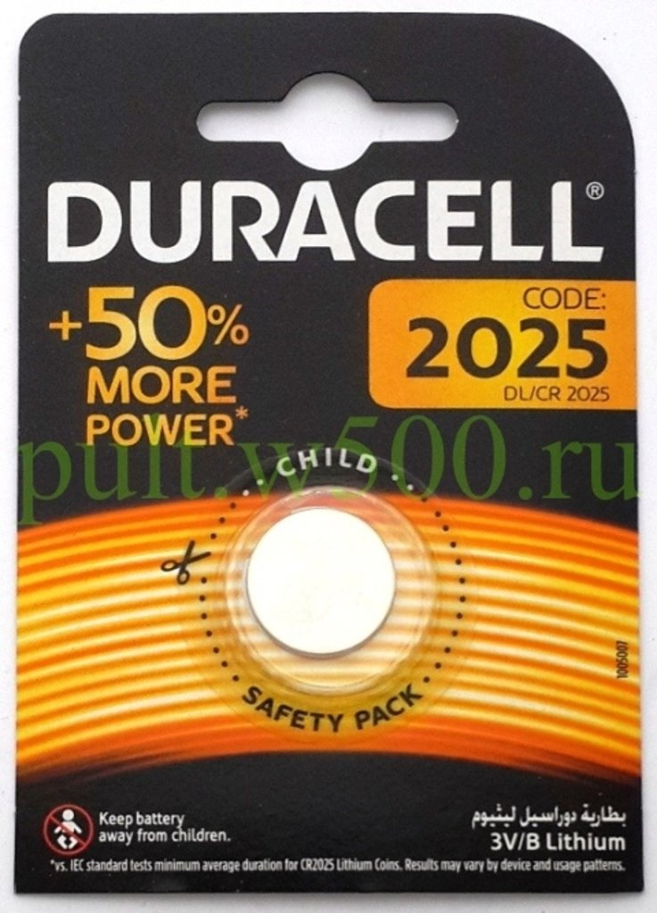 Монетки: Батарея CR2025 Duracell (1BL) в A-Центр Пульты ДУ